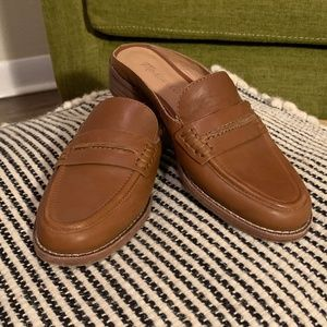 Madewell The Elinor Loafer Mule Size 6 Slides